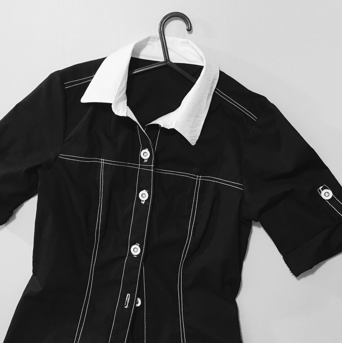 Black Shirt Dress // Handmade by IamERVHAN